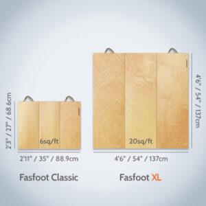 Fasfoot XL floor compared to Fasfoot Classic floor